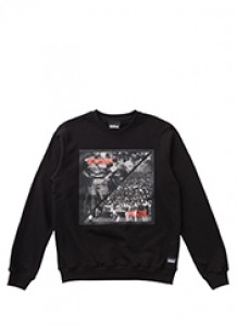 P&C CREWNECK - BLACK brownbreath