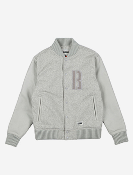 B WOOL STADIUM JACKET - GREY brownbreath