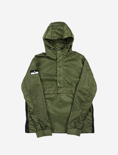 B FLAG PULLOVER - KHAKI brownbreath