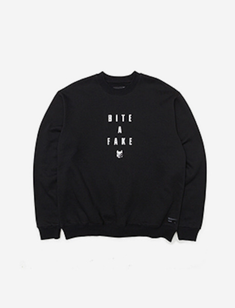 BITEAFAKE CREWNECK - BLACK brownbreath