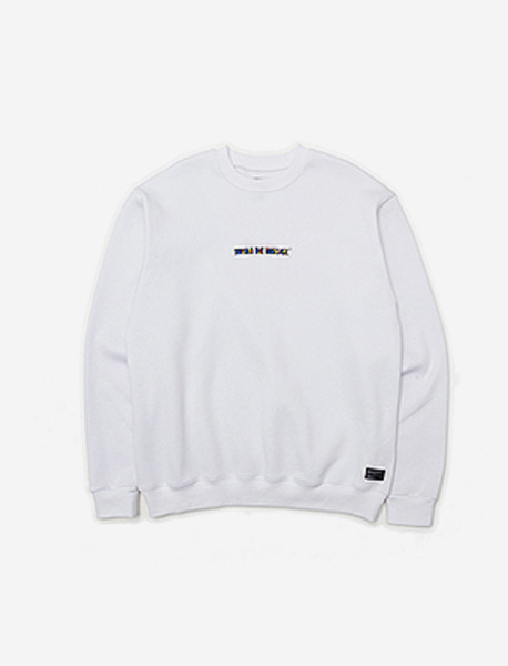 STM FILL CREWNECK - WHITE brownbreath