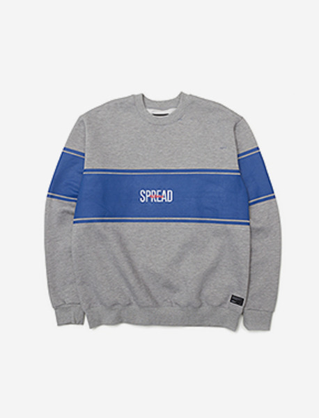 SPREAD CREWNECK KD - GREY brownbreath