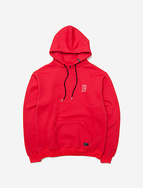 B MOVE HOODIE - RED brownbreath