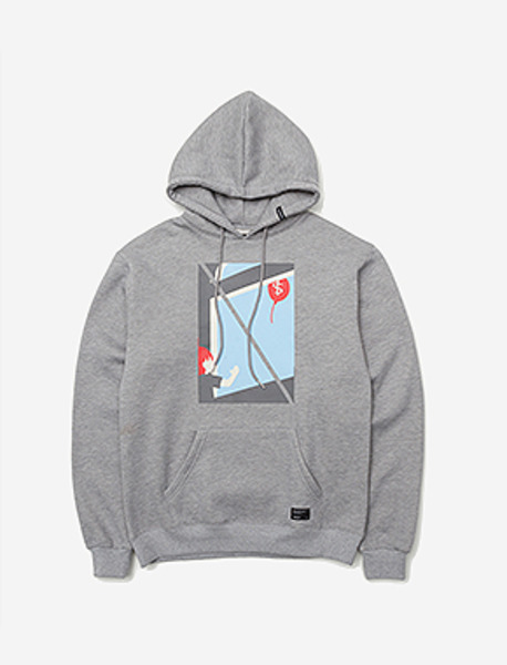 GONE HOODIE - GREY brownbreath