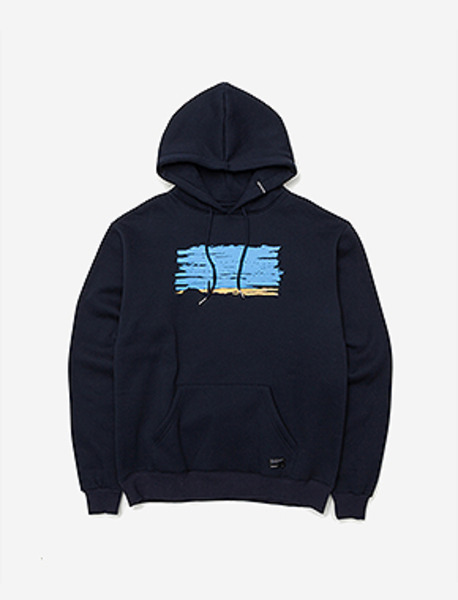 LEAVE HOODIE - NAVY brownbreath