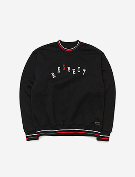RE$PECT CREWNECK - BLACK brownbreath