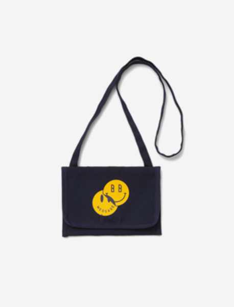 SMILEY SHOULDER M.BAG - NAVY brownbreath