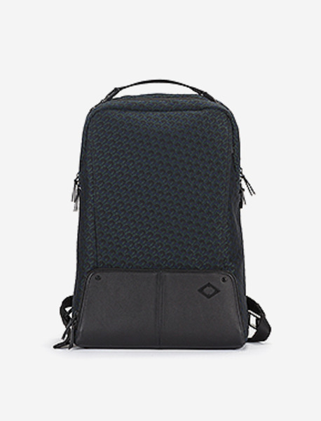 B105 Backpack CM - JACQUARD PATTERN brownbreath