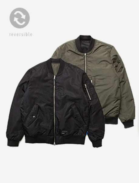 B REVERSIBLE MA-01 JACKET - BLACK(KHAKI) brownbreath