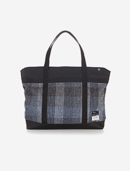 N042 CIVITAS TOTE BAG(W) - HARRIS TWEED brownbreath