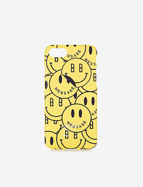SMILEY iPhone 7 case - YELLOW brownbreath