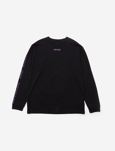 LIL SIGN LONGSLEEVE - BLACK (PURPLE) brownbreath