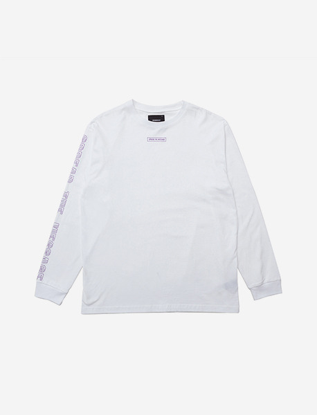 LIL SIGN LONGSLEEVE - WHITE (PURPLE) brownbreath