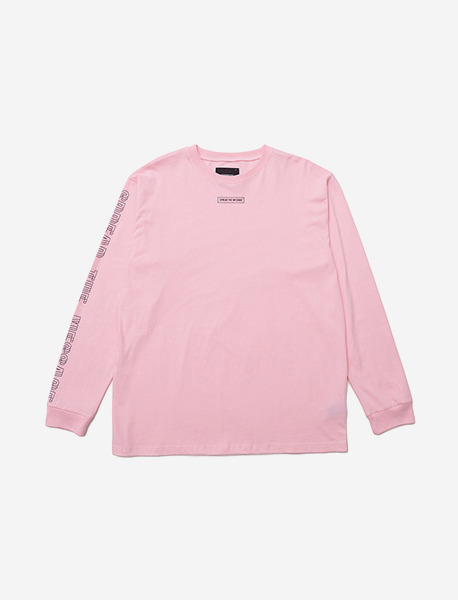 LIL SIGN LONGSLEEVE - PINK brownbreath