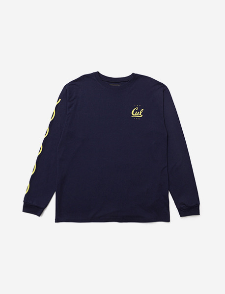 SUBCULTURE LONGSLEEVE - NAVY brownbreath