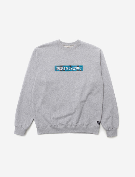 STM CREWNECK LBC - GREY brownbreath