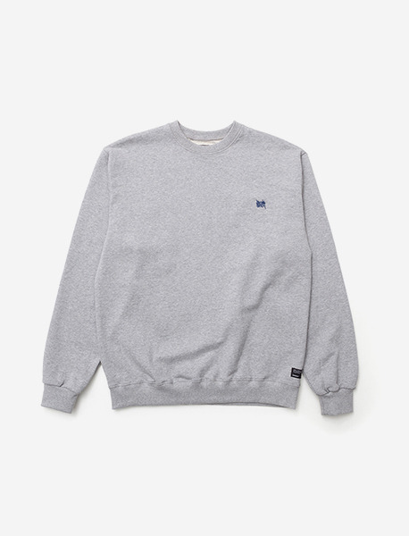 TAGGING CREWNECK - GREY brownbreath
