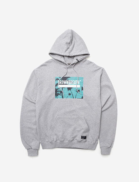 BOX LBC HOODIE  - GREY brownbreath