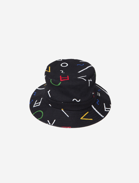 CONSONANT BUCKET HAT - BLACK brownbreath