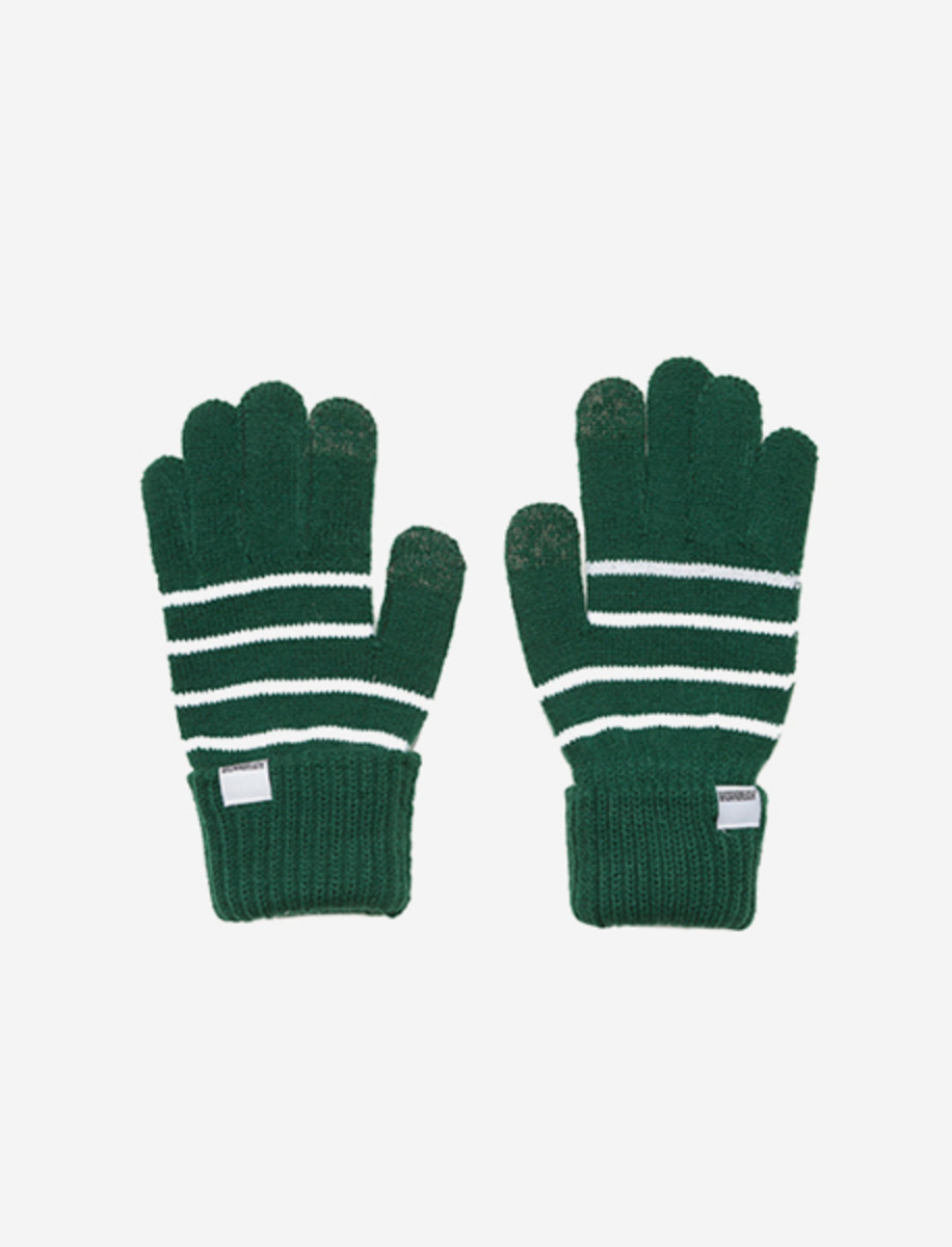 STRIPE GLOVES - GREEN brownbreath