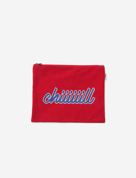 CHIIIIILL M.POUCH - RED brownbreath