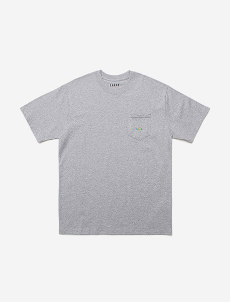 SURF POCKET TEE - GREY brownbreath