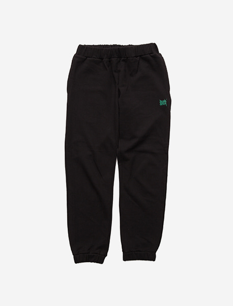 TAGGING SWEAT PANTS - BLACK brownbreath