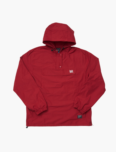 TAGGING ANORAK - BURGUNDY brownbreath