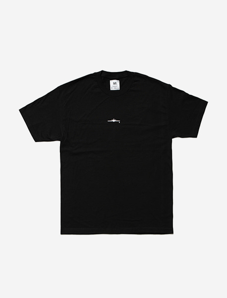ATTITUDE TEE - BLACK brownbreath