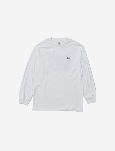 TAG LONGSLEEVE - WHITE(BLUE) brownbreath
