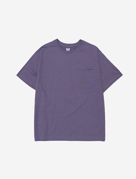 BB CIRCLE POCKET TEE - PURPLE brownbreath