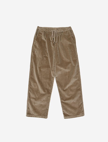 TAG CORDUROY PANTS - BEIGE brownbreath