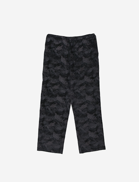 TAG CORDUROY PATTERN PANTS - BLACK brownbreath