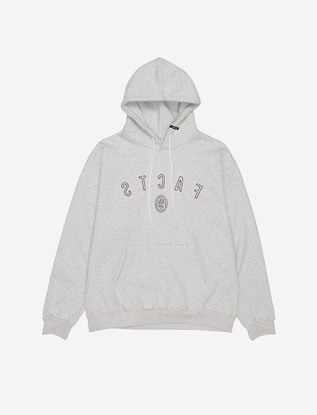 FACTS HOODIE - OATMEAL brownbreath