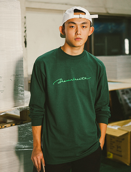 SIGNATURE LONGSLEEVE - GREEN brownbreath