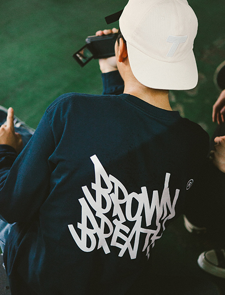 TAG LONGSLEEVE - NAVY brownbreath