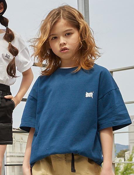 [KIDS] TAG TEE - NAVY brownbreath