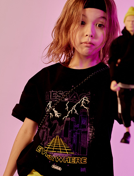 [KIDS] EVERYWHERE TEE - BLACK brownbreath
