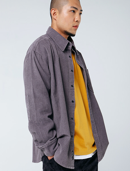 B CORDUROY SHIRTS - PURPLE brownbreath