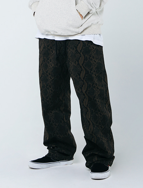 VAMPI TAG PANTS - KHAKI brownbreath