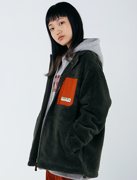 [10/6 예약발송] TAG BOA FLEECE JACKET - KHAKI brownbreath